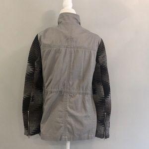 Francesca's Collections Jackets & Coats - Francesca's Quinn Southwestern Anorak Jacket Grey
